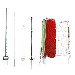 Zaunpfähle, Pfosten und Netze
