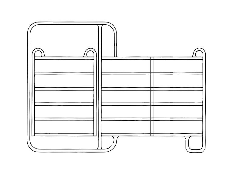 Panel 3,00m mit Tor:   Die mobilen Zaunelemente / Panele haben sich seit Jahren in der modernen Vie
