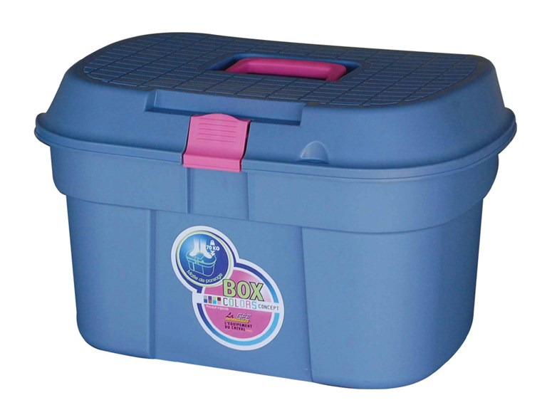 Box COLOR XL:   Diese Kisten aus Kunststoff-Spritzgusssind ideal um Ordnung in Ihrem Reiter
