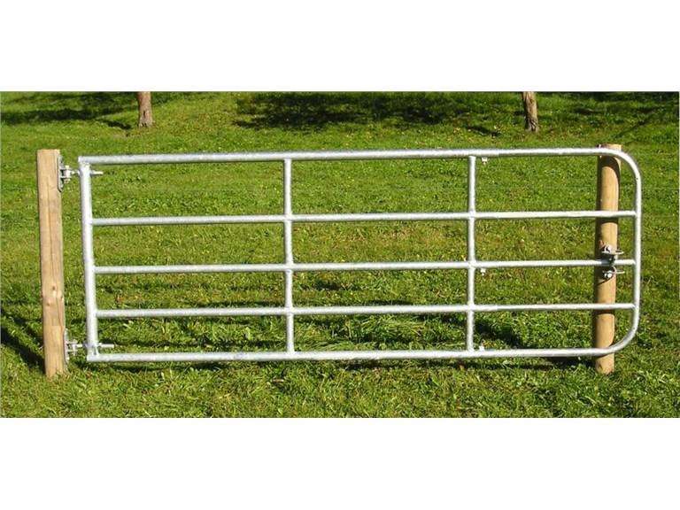 Weidetor für Schafe, 5,00m - 6,00m, inkl. Montage-Set:   Weidetor, ausziehbar Inklusive aller Befestigungsteile für Holzsäule und Sc