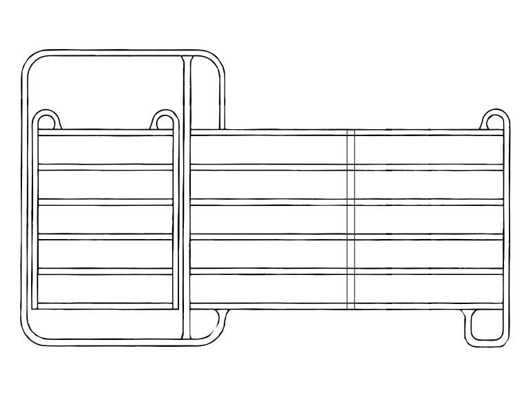 Panel 3,60m mit Tor:   Die mobilen Zaunelemente / Panele haben sich seit Jahren in der modernen Vie