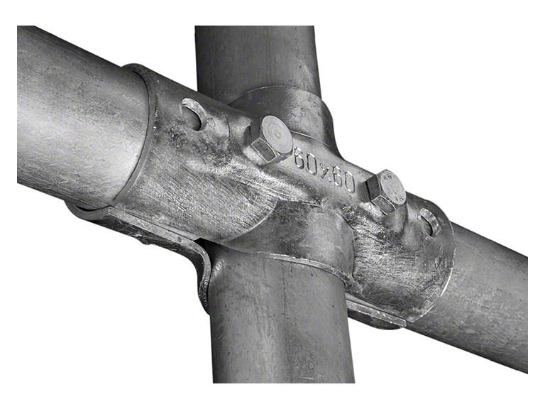 Kreuzschelle:   Stabile Kreuz - Verbindung von Rohren. Inkl. zwei Schrauben In den Größen: