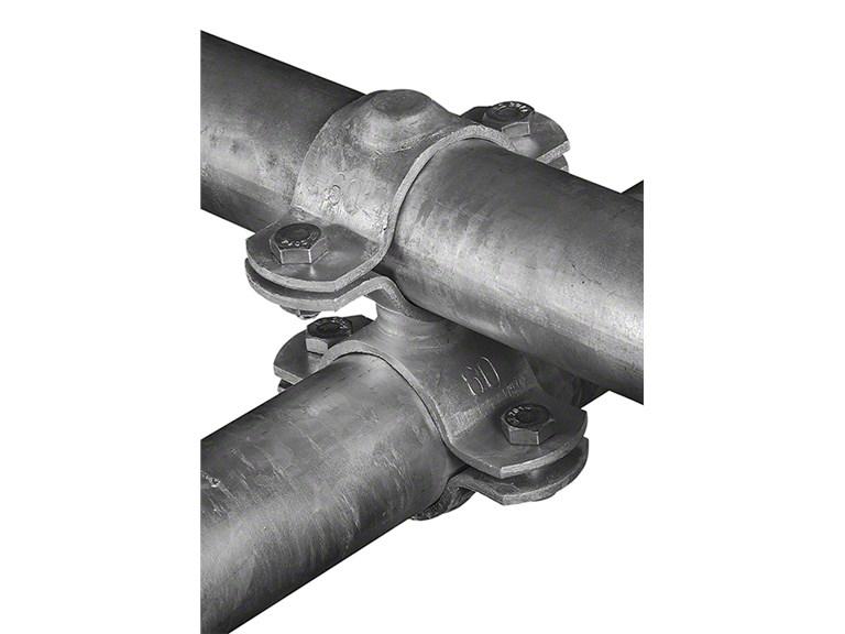 Querschelle, geschweißt:   Stabile Kreuz - Verbindung von Rohren. Inkl. vier Schrauben In den Größen: