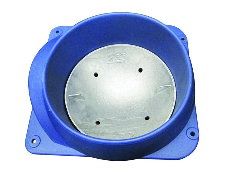 Aluminiumschale für POLYTHERME:   Jede POLYTHERME kann mit Kunststoffball oder Aluminium-Schale ausgestattet w