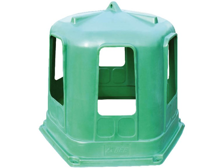 Futterrauf RPE, kl.Modell:   aus rotationsgeformtem Polyethylen, besonders stabil  U.V.-, frost und fäu