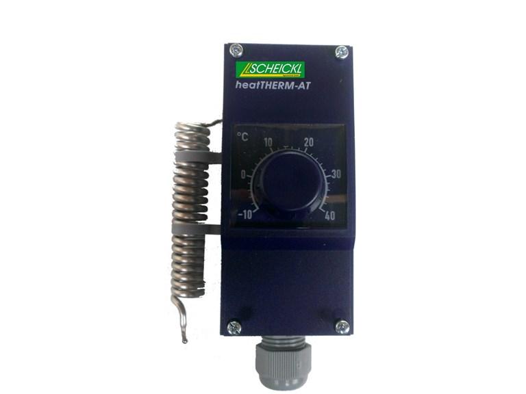 Außen - Thermostat:   220V - Außenthermostat. Kann vor einen Transformator geschaltet werden um T
