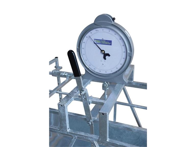 Analoge Wiegeeinheit für Lämmerwaage:   Wiegebereich von 0 bis 100kg. Zur Verwendung mit Lämmerwaage.